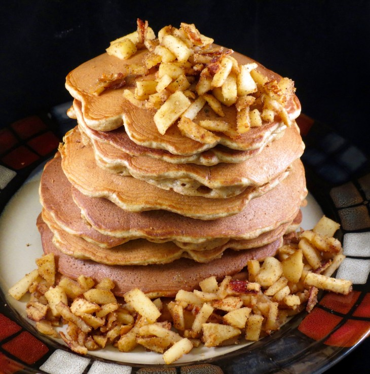 Apple Cinnamon Pancakes Stacked Final Picture