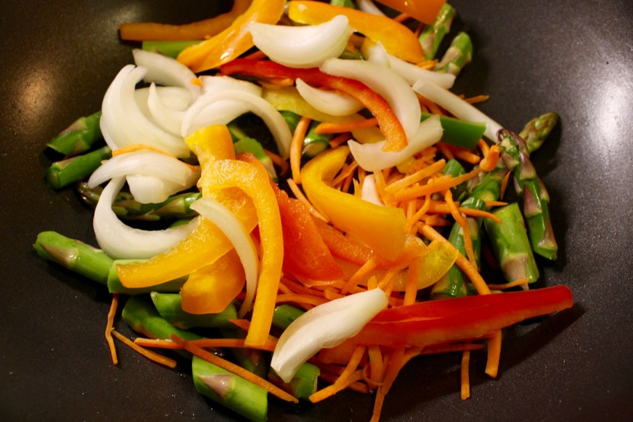 Stir Fry Vegetables in Wok