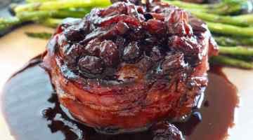 Prosciutto Wrapped Pork Tenderloin with Fig and Port Wine Sauce Cover Pic