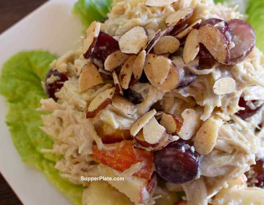 Chicken Salad with Apples Side View