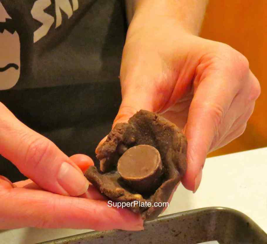 Caramel Cookies Add the chocolate caramel