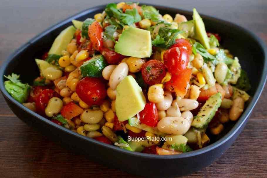 Garbanzo Bean Salad in a serving bowl