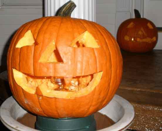 Carved Pumpkin closeup