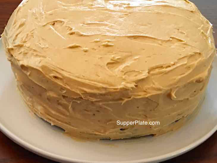 Side view of the frost cake