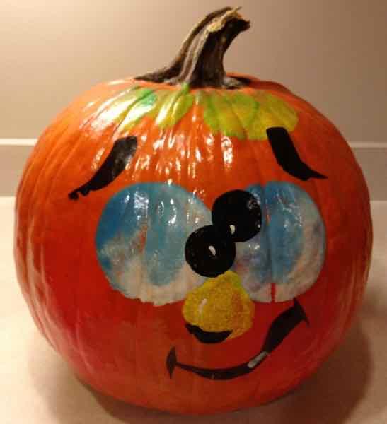 Painted pumpkin