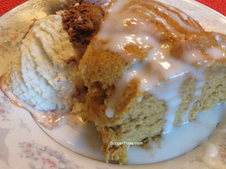 Pumpkin Pie Cake Top View