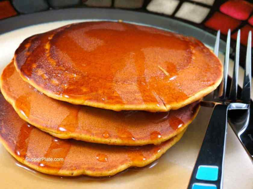 Pumpkin Spice Pancakes plated