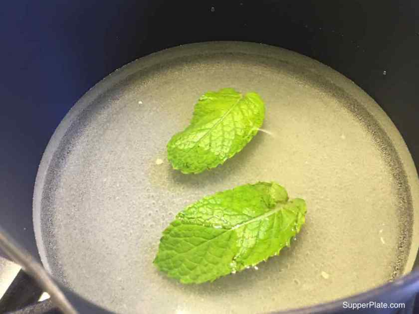 step 3 Mint Infused Simple Sugar
