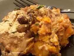 Make Ahead Sweet Potato Casserole plated