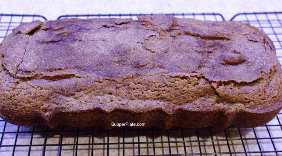 Pumpkin Cinnamon Bread cooled with cinnamon topping