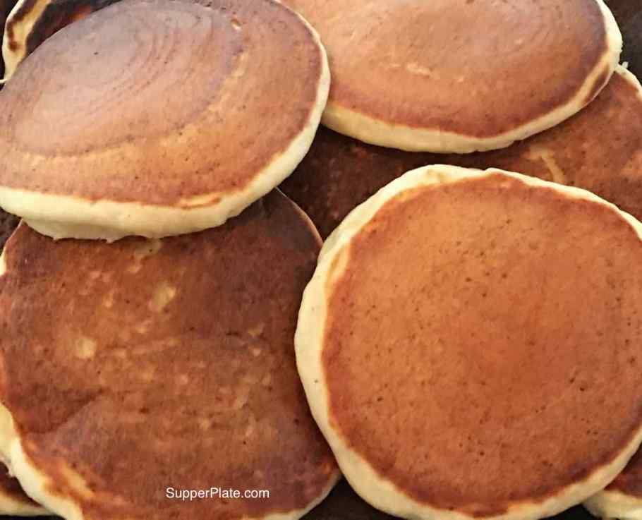 Ricotta Hotcakes scattered on a plate