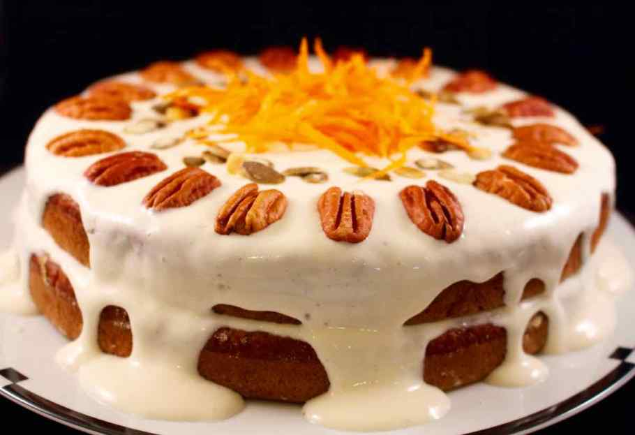 Side view of the Carrot Applesauce Cake