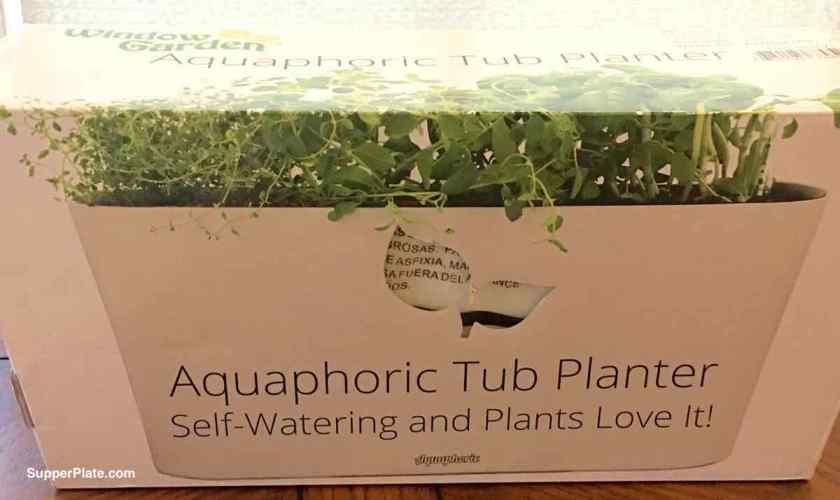 Side view of the aquaphoric tub planter box