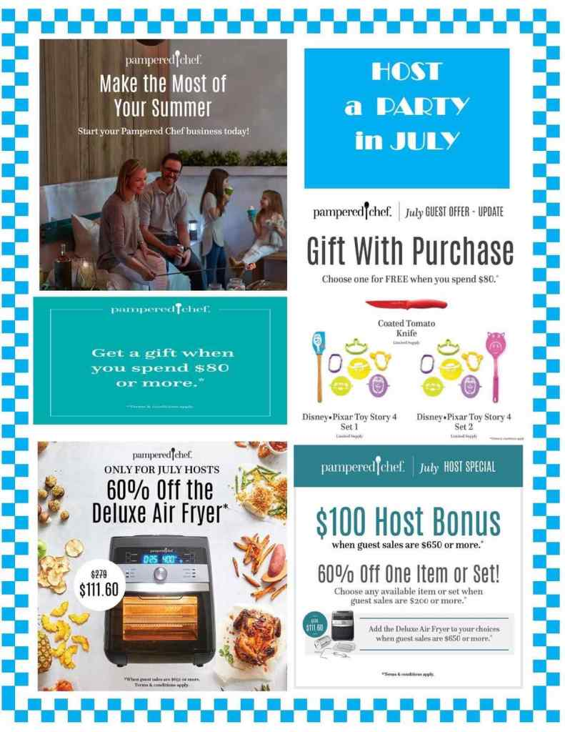July Pampered Chef specials