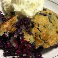Easy Blueberry Cobbler with Cooking Video