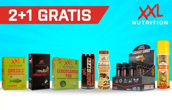 2 + 1 gratis xxl nutrition