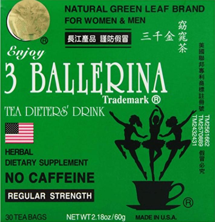a balerina tea miatt lefogy