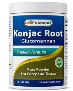 Glucomannan fiber konjac root fiber