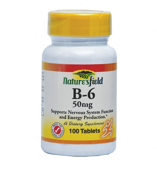 Natures Field Vitamin B6 50mg