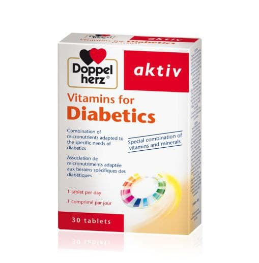 Doppelherz Vitamins for Diabetics - 30 Tabs