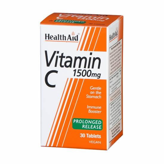 HealthAid Vitamin C 1500mg Prolonged Release - 30 Tablets