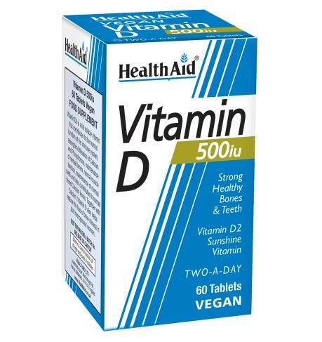 HealthAid Vitamin D 500iu Tablets - 60 Tabs
