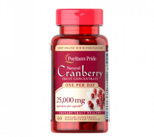 Puritan's Pride Cranberry Fruit Concentrate 25,000mg 60 Capsules