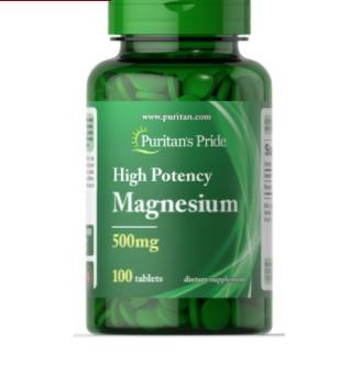 Puritan's Pride High Potency Magnesium 500 mg - 100 Tab