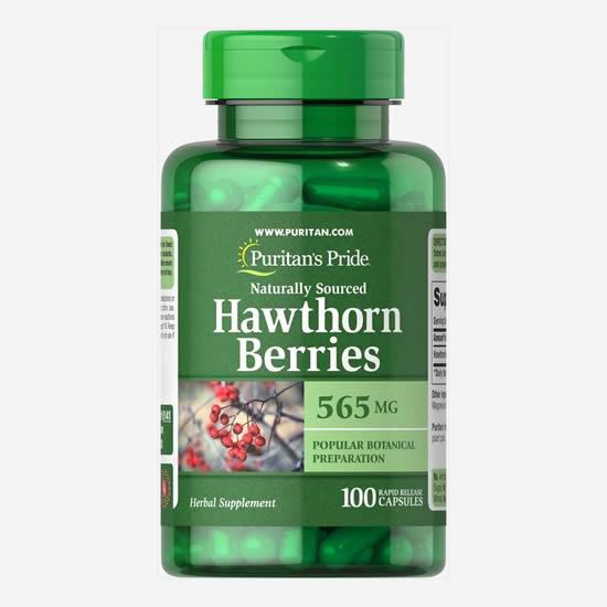 Puritan's Pride Hawthorn Berries 565 mg-100 Caps