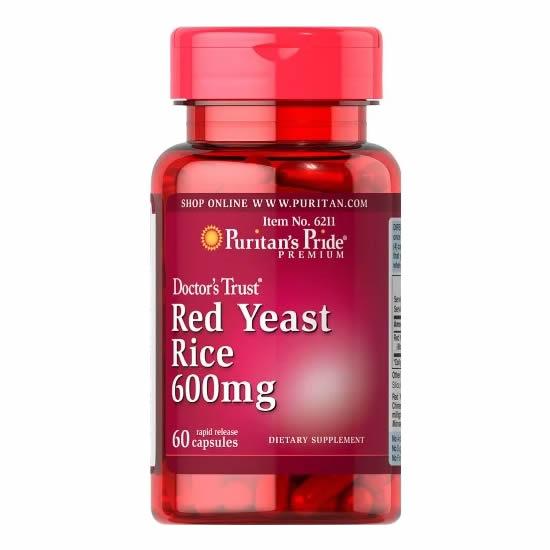 Puritan's Pride Red Yeast Rice 600 mg - 60 Cap