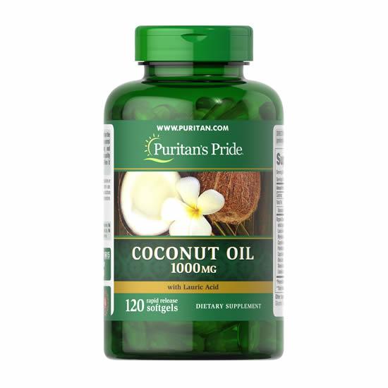 Puritan's Pride Coconut Oil 1000 mg - 120 Softgels