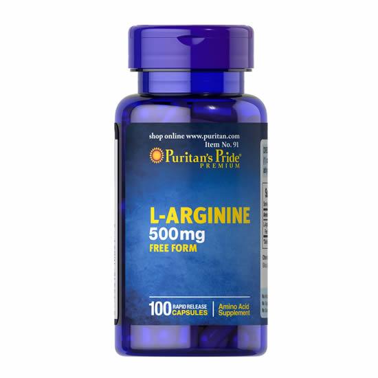 Puritan's Pride L-Arginine 500 mg - 100 Cap