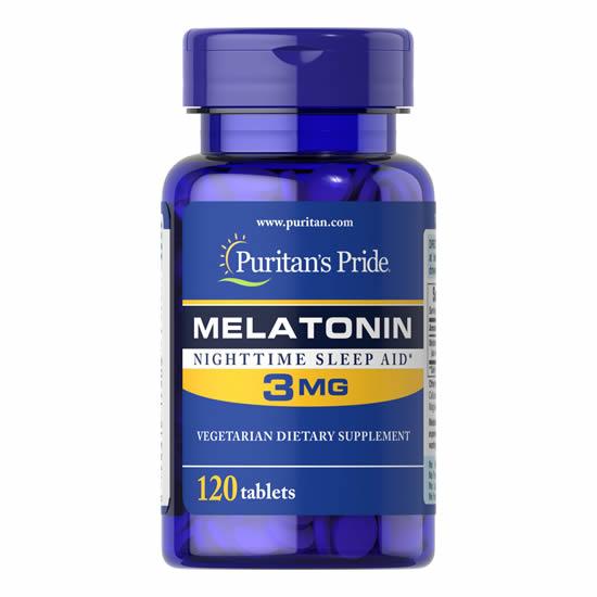 Puritan's Pride Melatonin 3 mg - 120 Caps