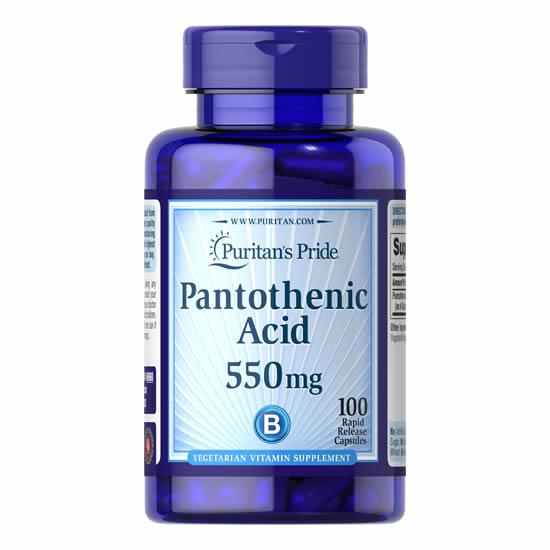 Puritan's Pride Pantothenic Acid 550 mg- 100 Caps