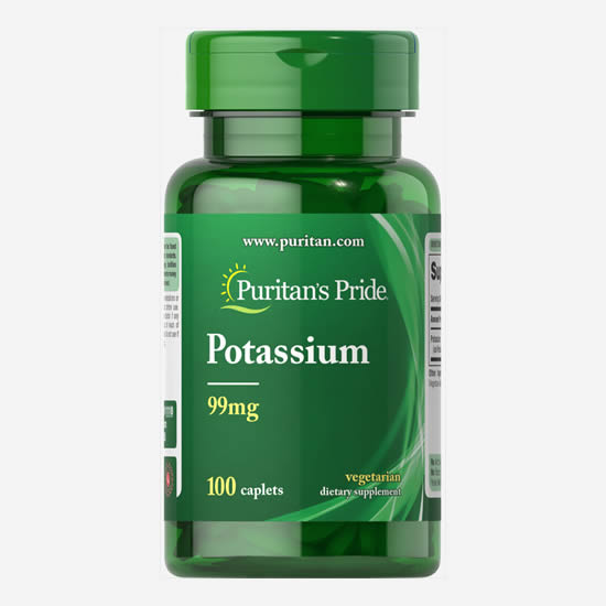 Puritan's Pride Potassium 99 mg - 100 Caps