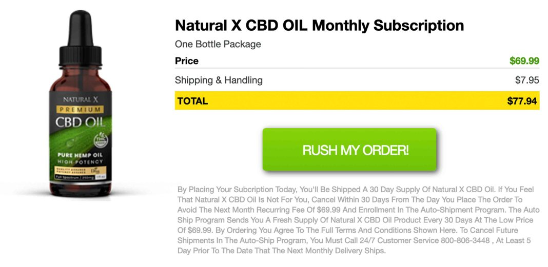 Natural X CBD Oil Free Trial