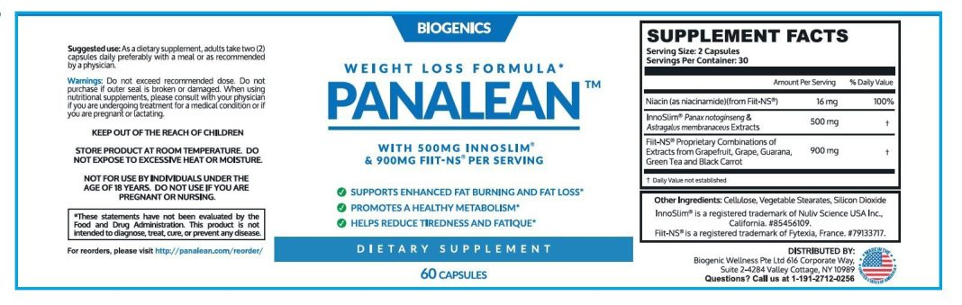 Panalean Weight Loss Pills