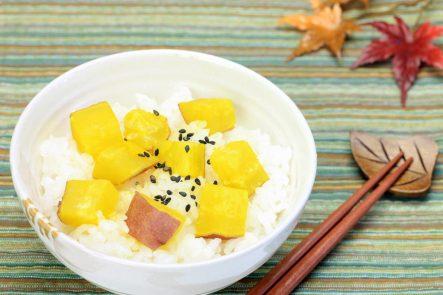 Sweet potatoes and rice