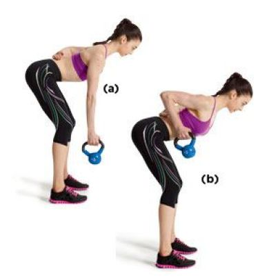 3 Kettlebell Single-Arm Row