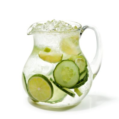 Fresh cucumber and lime drink
