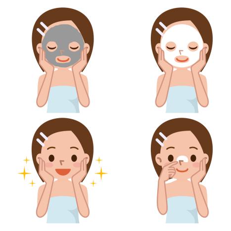 japaneese woman facial