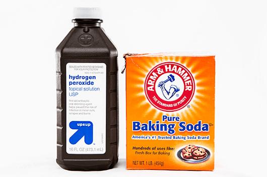 Baking soda and Hydrogen peroxide