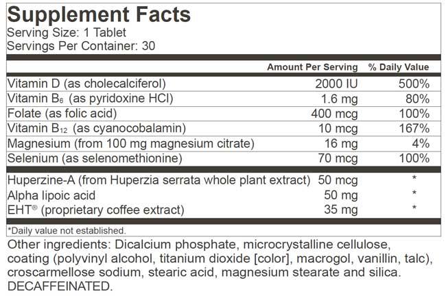 Nerium EHT Ingredients