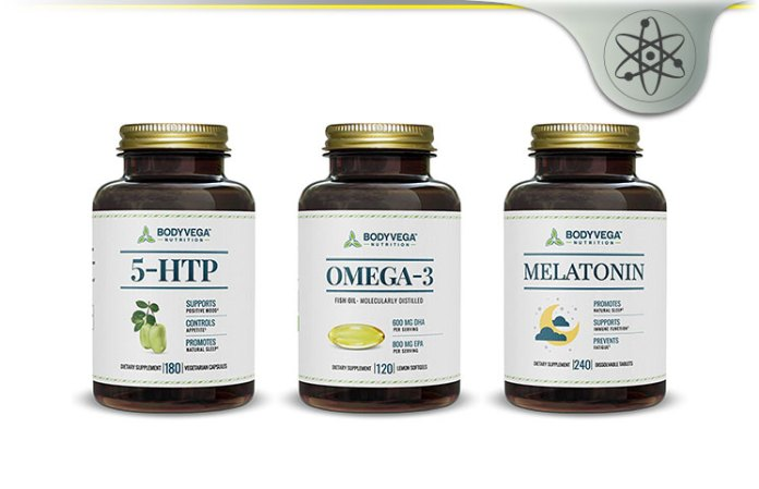 BodyVega Nutrition Review - Melatonin, Omega 3, 5-HTP, CoQ10
