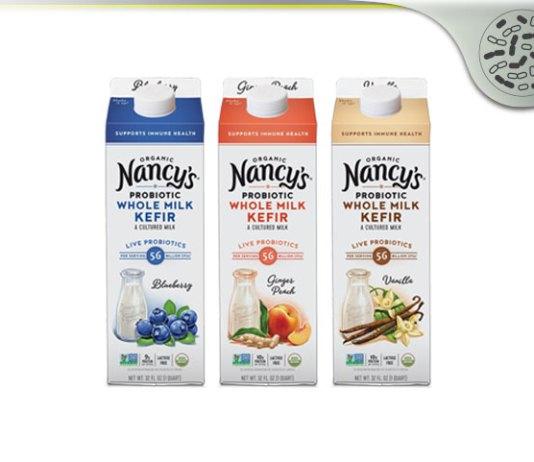 Probiotic Pioneer Nancy's Organic Probiotic Whole Milk Kefirs