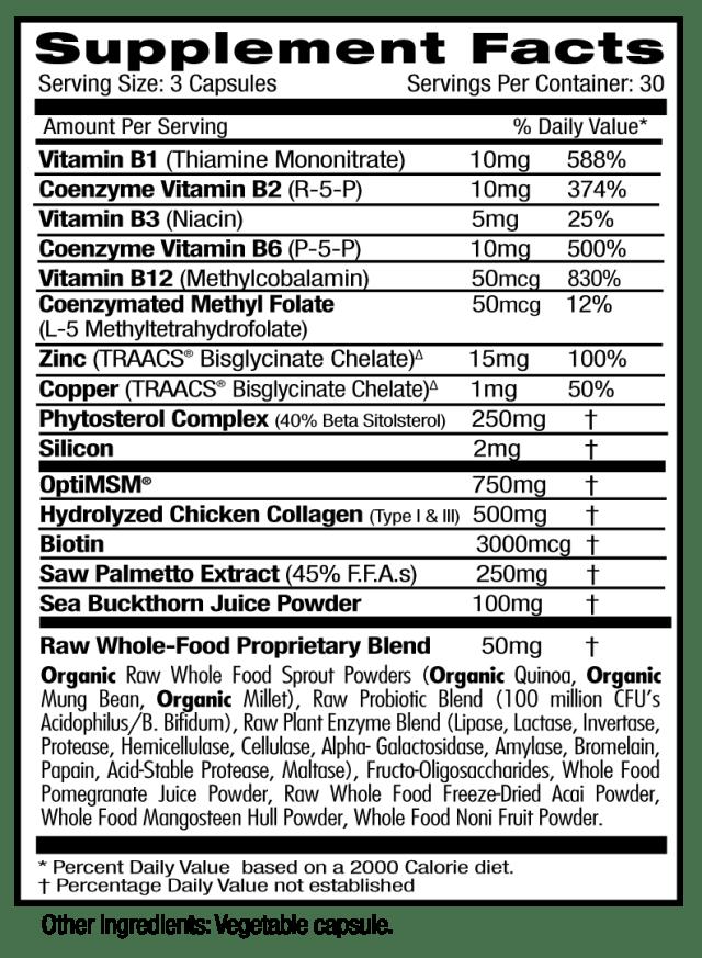 Emerald Collagen Health Supp Facts