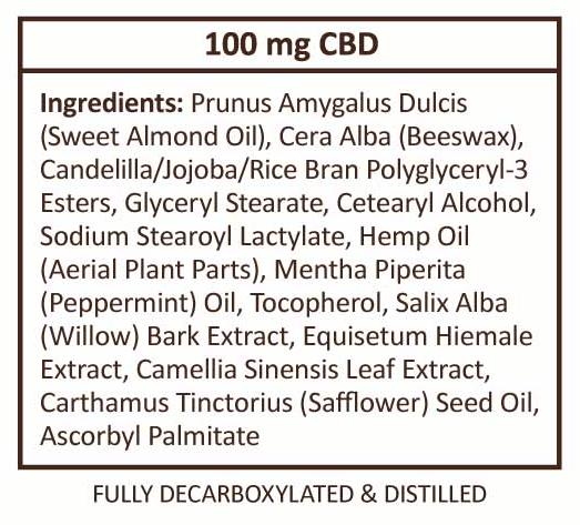Plus CBD Oil Balm Extra Strength Supplement Facts