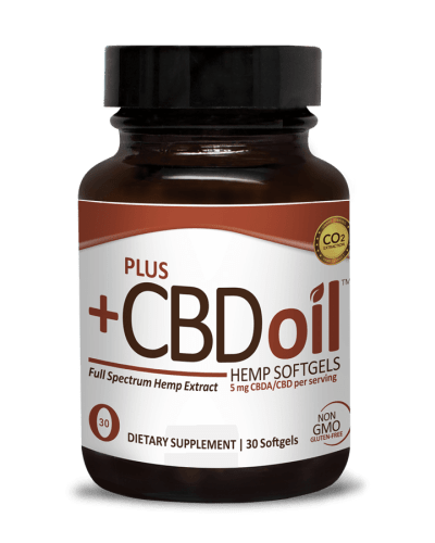 Plus CBD Oil Raw 30 Hemp Softgels