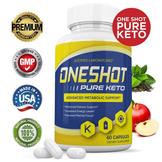 The One Shot Keto diet pills are a powerful ketogenic weight loss supplement that contains fat-burning BHB ketones.