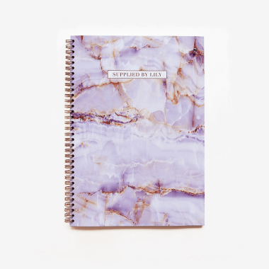 A4 Spiral Notebook in Luxurious Amethyst